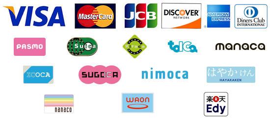 クレジット&電子マネーロゴ